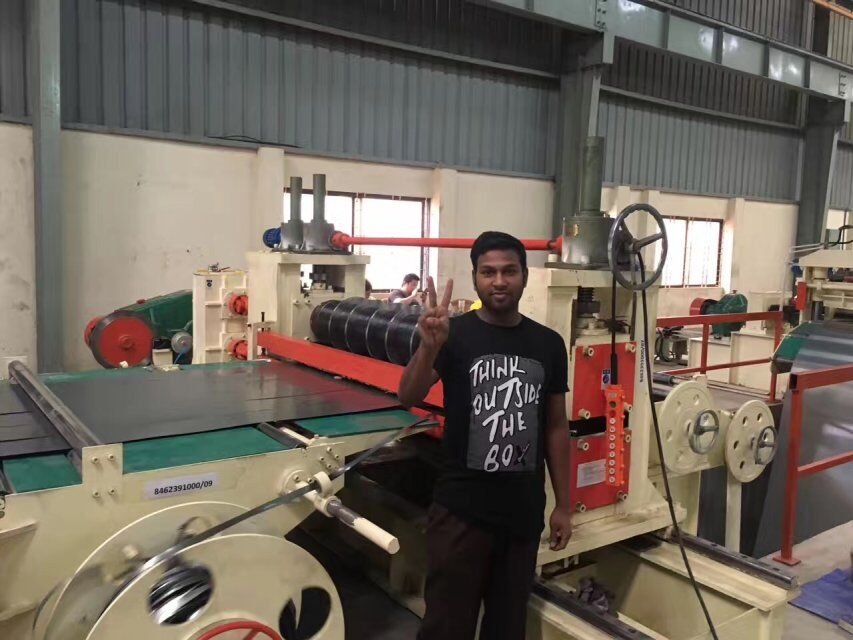 Our engineer and slitting line