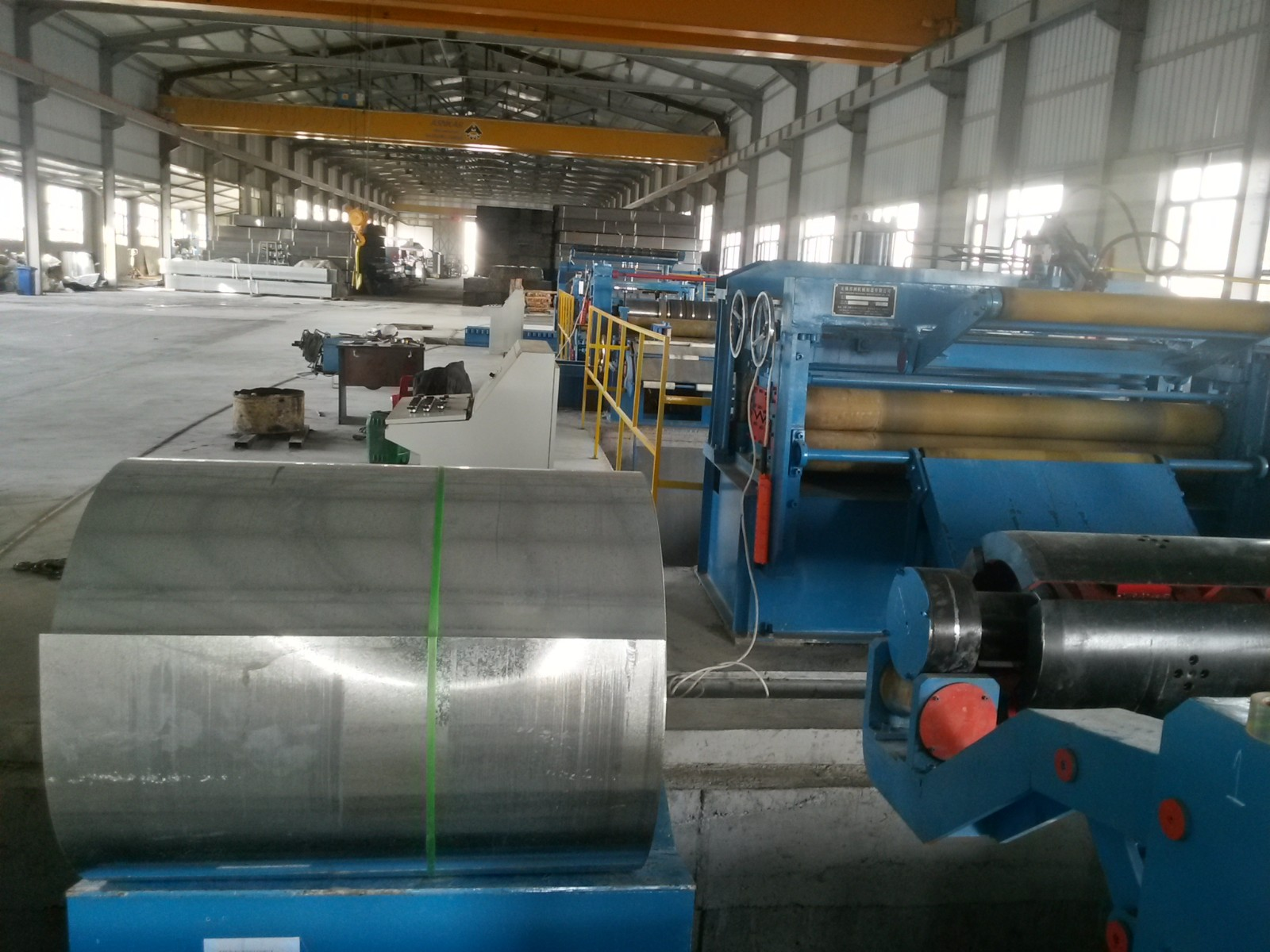 automatic slitting line sold to iraq