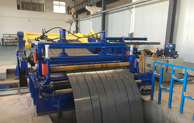 Automatic steel sheet coil slitting line